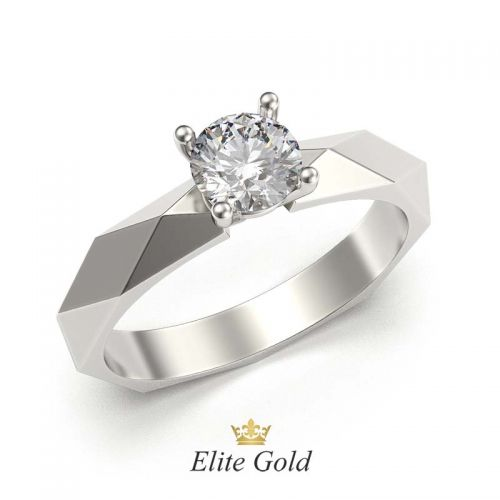 кольцо в стиле Бушерон в белом золоте