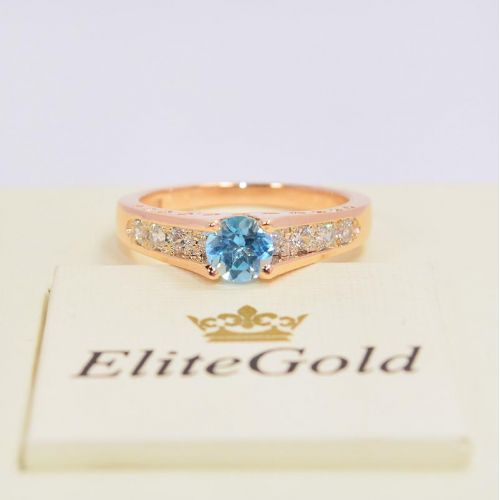 кольцо Isabella с топазом Swiss в центре