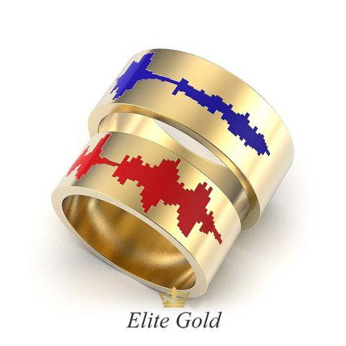 кольца Impulso с красной и синей эмалью
