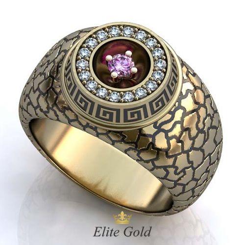 кольцо Exodus в белом золоте с чернением