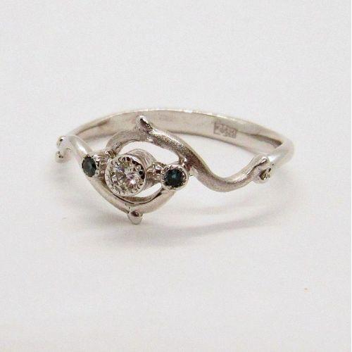 кольцо Craft в белом золоте