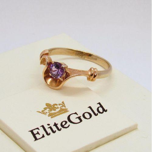 кольцо с фиолетовой шпинелью фото