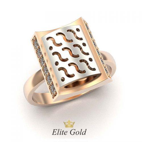 кольцо Narcizza в красном и белом золоте