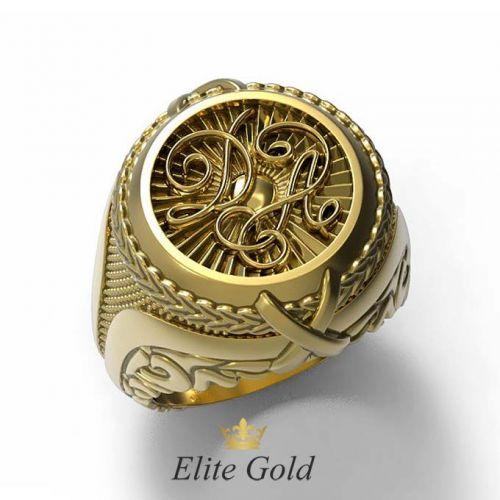 мужской перстень с инициалами