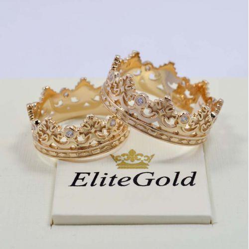 кольца короны в лимонном золоте