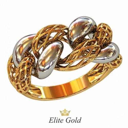 кольцо Futura в красном и белом золоте