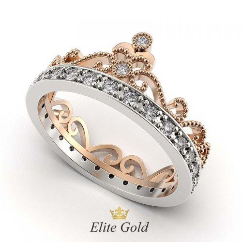 Кольцо Cronprincess в красном и белом золоте