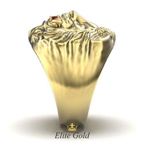 золотое кольцо Лев - вид сбоку