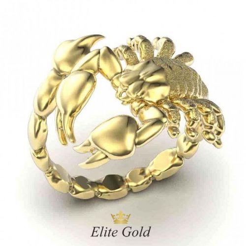 золотое кольцо Скорпион без камней
