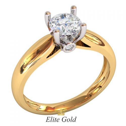 кольцо для помолвки в двух цветах золота