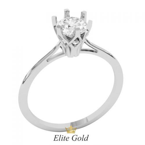 кольцо для помолвки в белом золоте фото