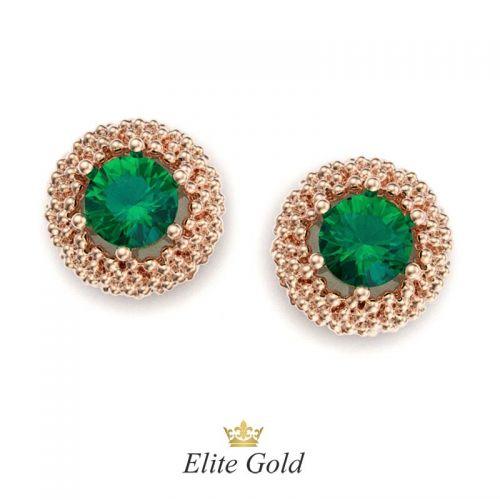 серьги Maestra с зелеными камнями