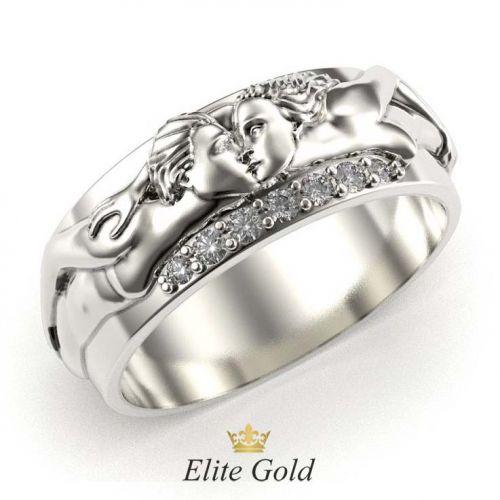 кольцо Lovers in White в белом золоте