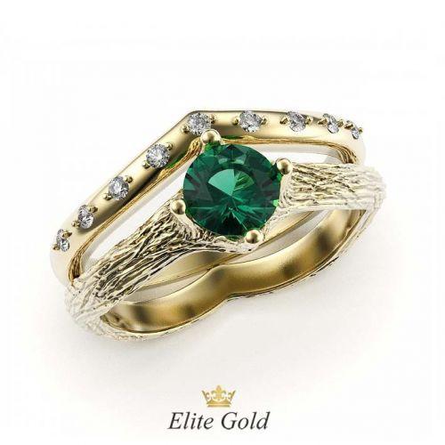 кольцо Faerie в лимонном золоте