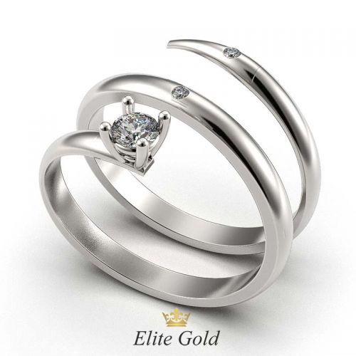 кольцо Embrace в белом золоте