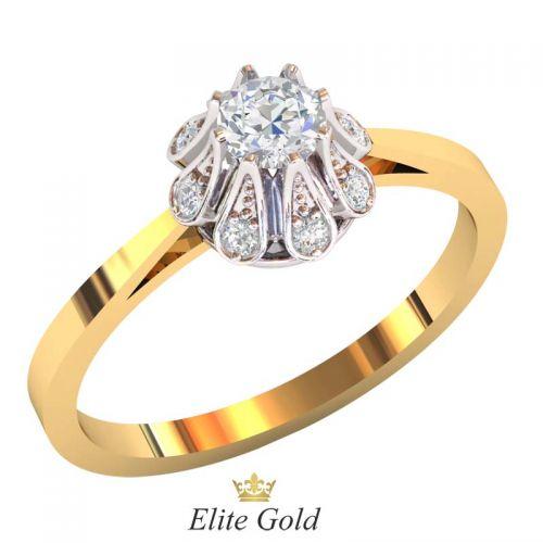 кольцо Caprice в белом и красном золоте