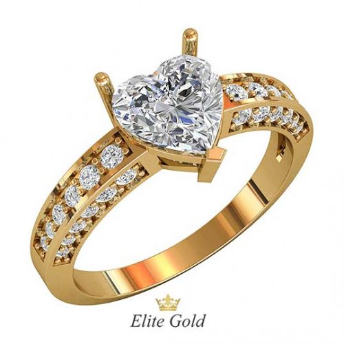 кольцо Ruelle с белыми камнями