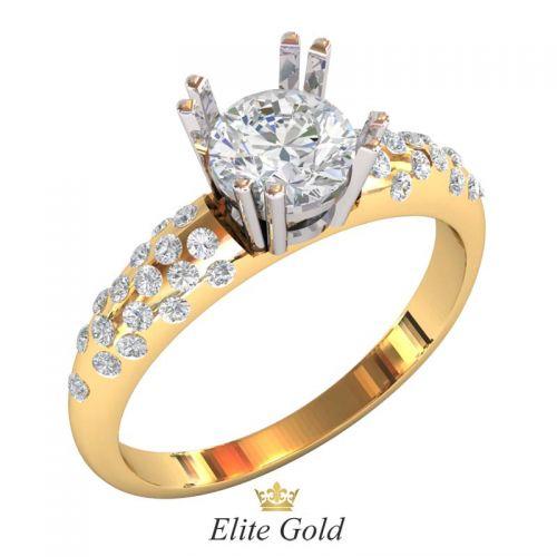 трендовое кольцо Ballari с белыми камнями