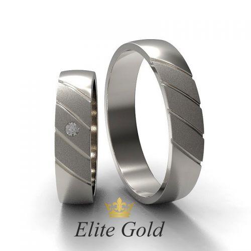 кольца Kaia в белом золоте с матированием