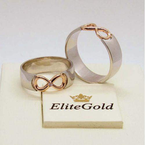 кольца Infinity в белом и красном золоте