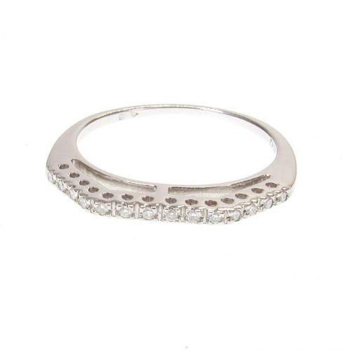 кольцо в белом золоте 750 пробы с бриллиантами