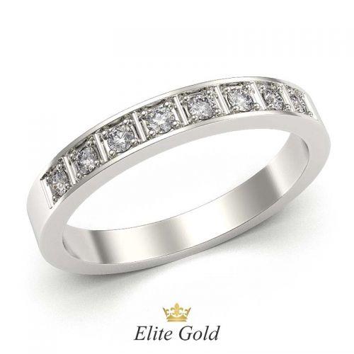 кольцо Aviva с модификацией: 8 камней вместо 10
