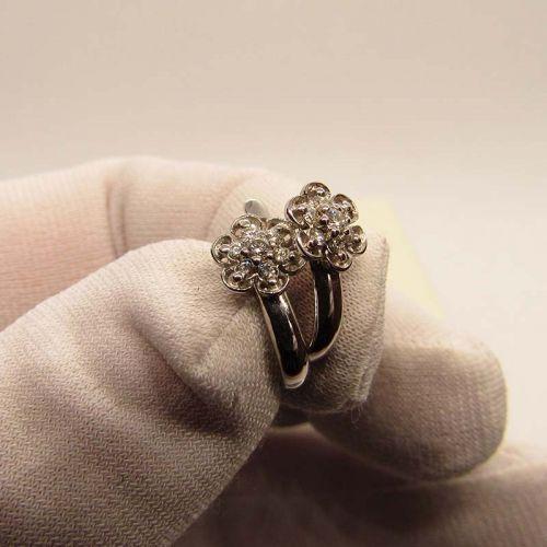 серьги с бриллиантами в белом золоте