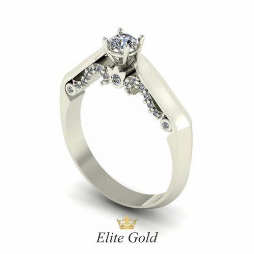 кольцо для помолвки с высоким кастом