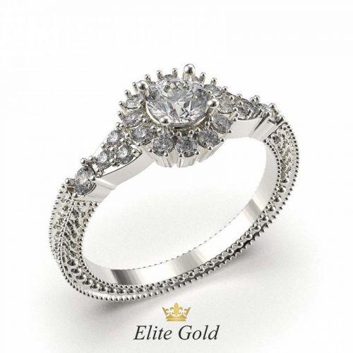кольцо Harlee в белом золоте