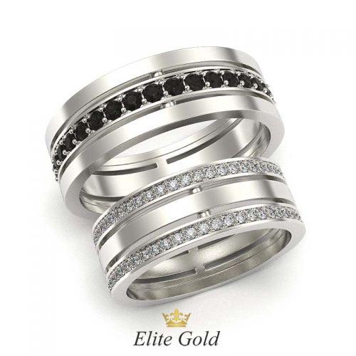 кольца Only Love Black & White в белом золоте