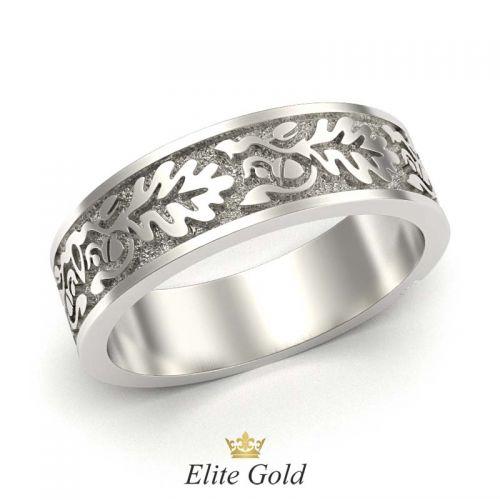 кольцо с орнаментом свадебник - вид сзади