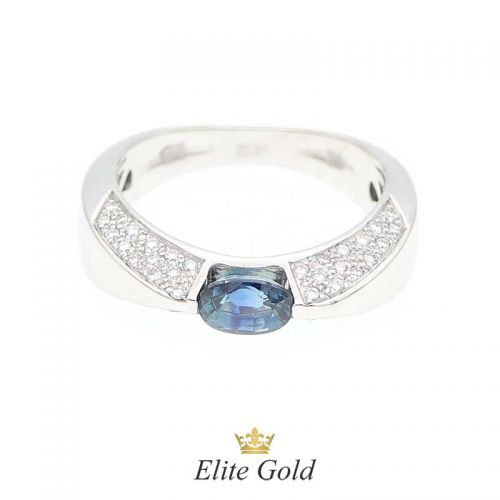кольцо Beata с сапфиром и бриллиантами