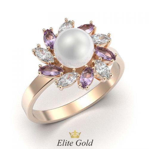 кольцо Palmiera с крупной жемчужиной