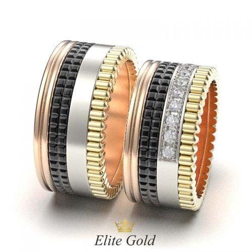 кольца Quatre - вид сбоку