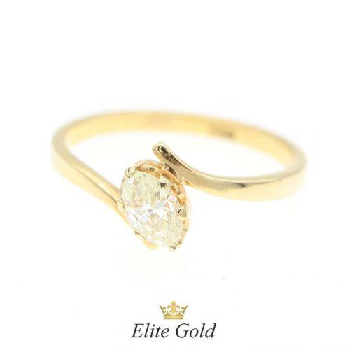 кольцо Lily в лимонном золоте с бриллиантом