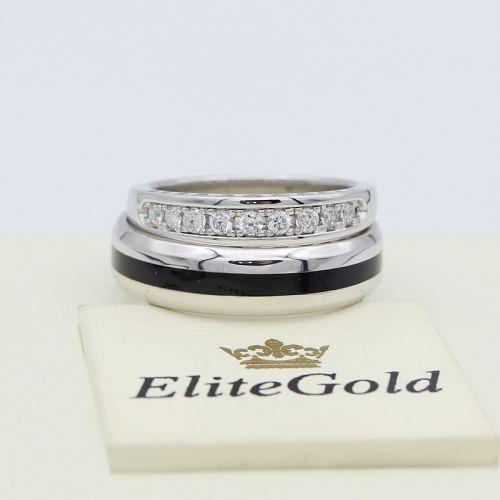 кольцо Archer в белом золоте с женским кольцом Isabella