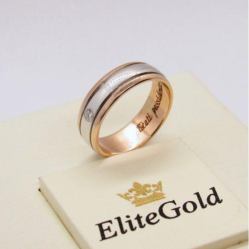 кольцо Dominica с камнем и гравировкой