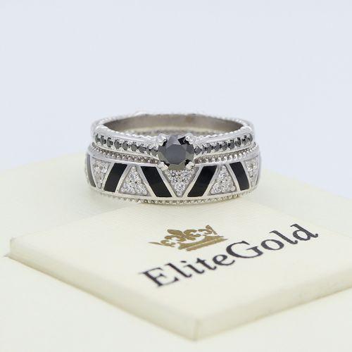 кольцо Saga вместе с женским кольцом Bianca