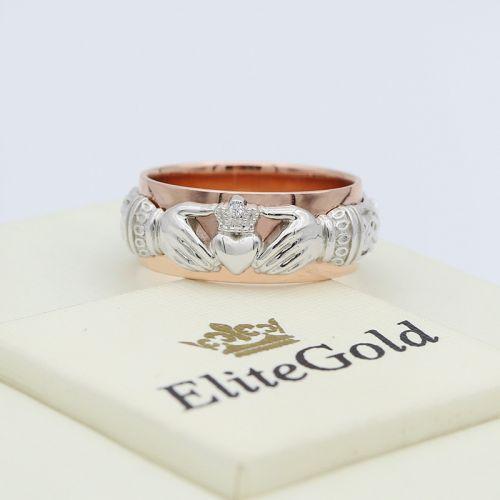 кольцо Always & Forever в белом и красном золоте