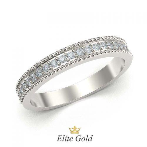 кольцо Safira в белом золоте 585