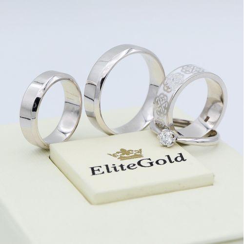 обручальные кольца Less is More с другими изделиями от EliteGold