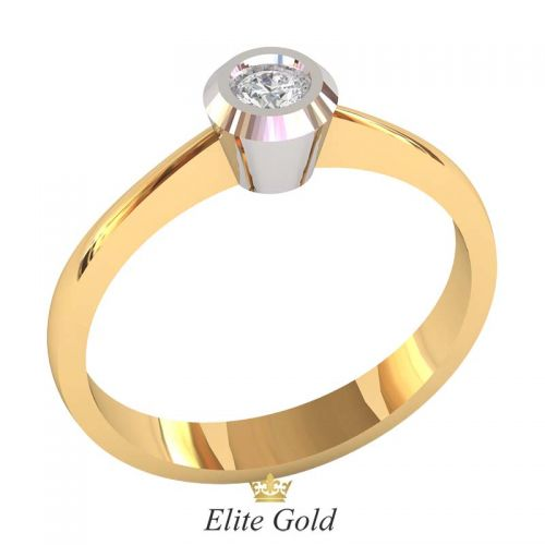 кольцо Solana в 2 цветах золота