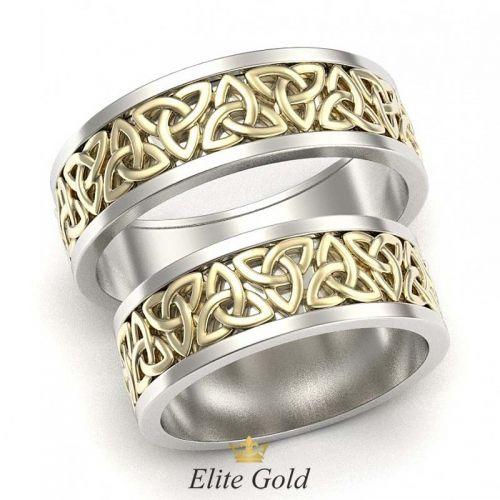 кольца Votum в лимонном и белом золоте