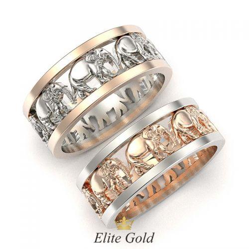 кольца с объемными изображениями слонов
