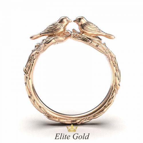 кольцо с птичками вид сбоку