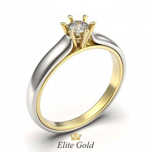 кольцо Fabielle в белом и лимонном золоте