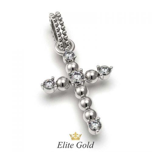 крест Charlot в белом золоте