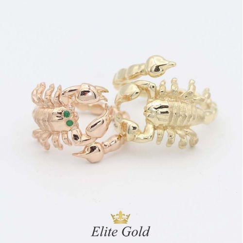 кольцо Скорпион в разных вариациях