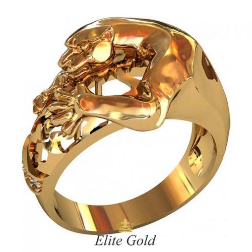 золотой перстень Pantera