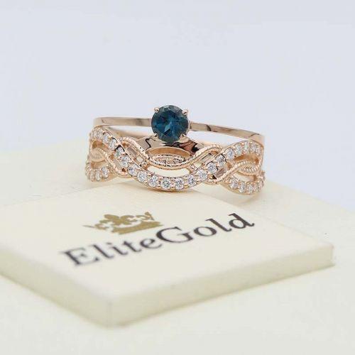 кольцо Richelle с Лондон Топазом в центре